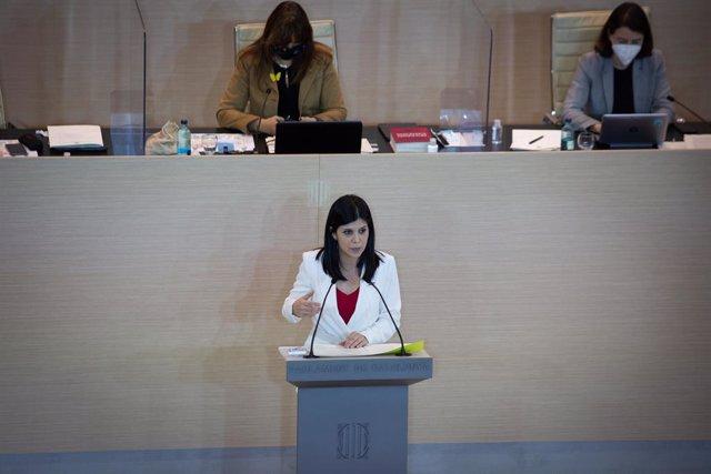 Marta Vilalta (ERC) en el ple d'investidura de Pere Aragonès del 26 de març.