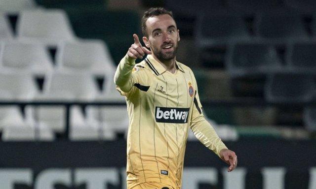 Sergi Darder celebra su doblete ante el Castellón