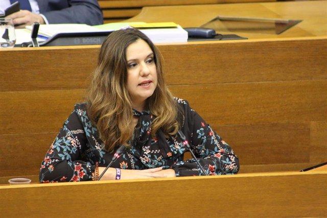 Archivo - La diputada de Compromís en les Corts Valencianes, Mònica Àlvaro