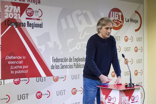 El secretario general de FeSP-UGT La Rioja, Fernando Domínguez