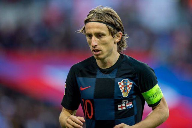 Archivo - Luka Modric of Croatia during the UEFA Nation League Group Stage match between England and Croatia at Wembley Stadium, London, England on 18 November 2018. Photo by Salvio Calabrese.