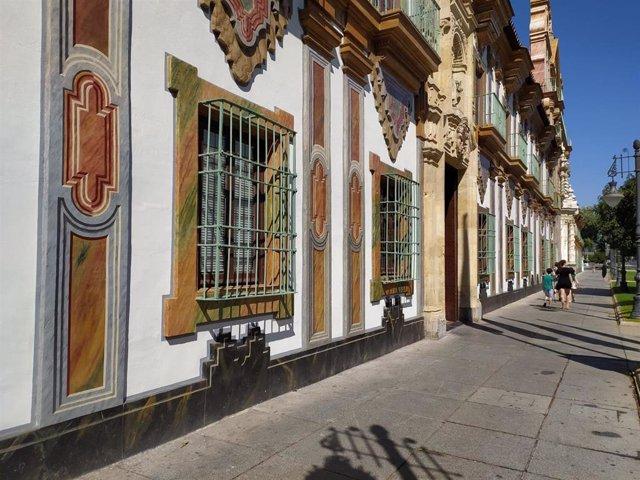 Archivo - Fachada del Palacio de la Merced, sede de la Diputación de Córdoba.