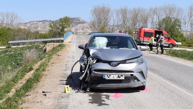 Accidente de tráfico en Buñuel con dos menores atropelladas
