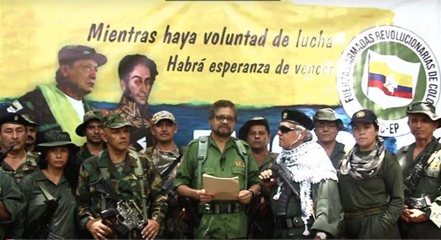 Archivo - Iván Márquez y otros disidentes de las FARC anuncian la vuelta a las armas