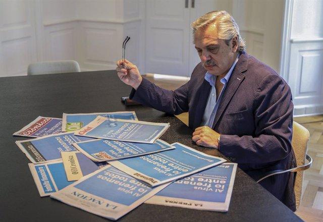 El presidente argentino, Alberto Fernández