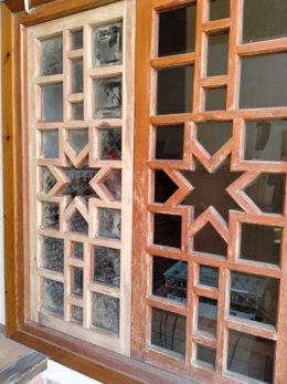 Carpintería del salón mudéjar del Palacio del Condestable Iranzo.