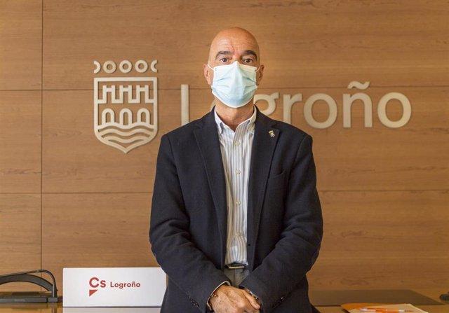El portavoz de Ciudadanos en el Ayuntamiento de Logroño, Ignacio Tricio