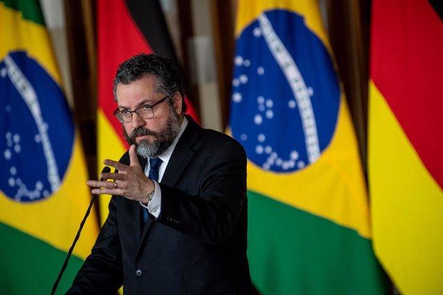 Archivo - El ministro de Exteriores de Brasil, Ernesto Araujo