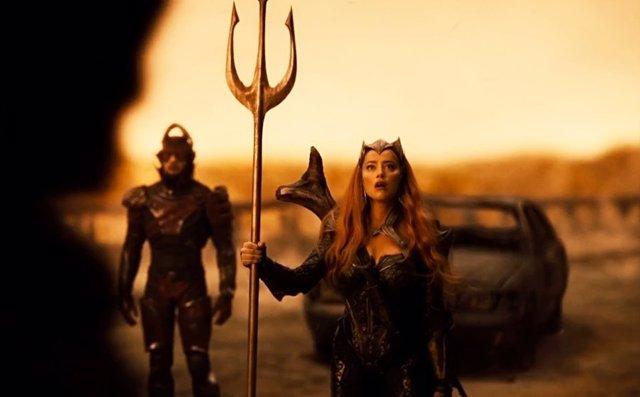 """Amber Heard presume de su regreso como Mera en Snyder Cut: """"Estoy dentro"""""""