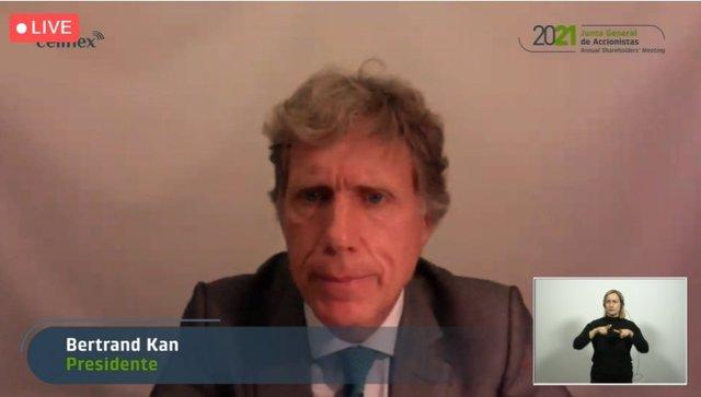 El president de Cellnex, Bertrand Kan, en la Junta General d'Accionistes de la companyia 2021