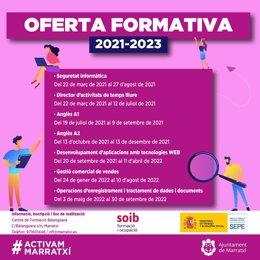 Oferta formativa del Ayuntamiento de Marratxí.
