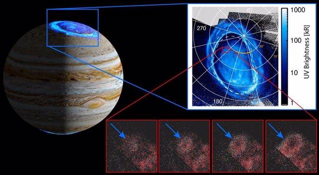 Nueva característica auroral en Júpiter