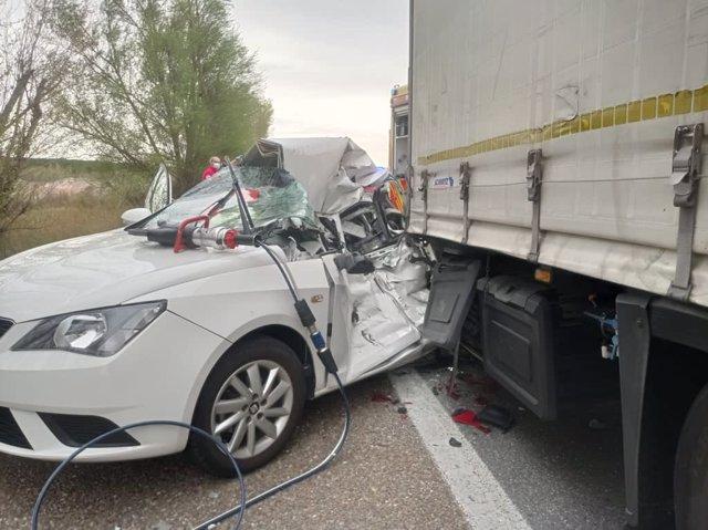 Imagen del accidente de Tordesillas