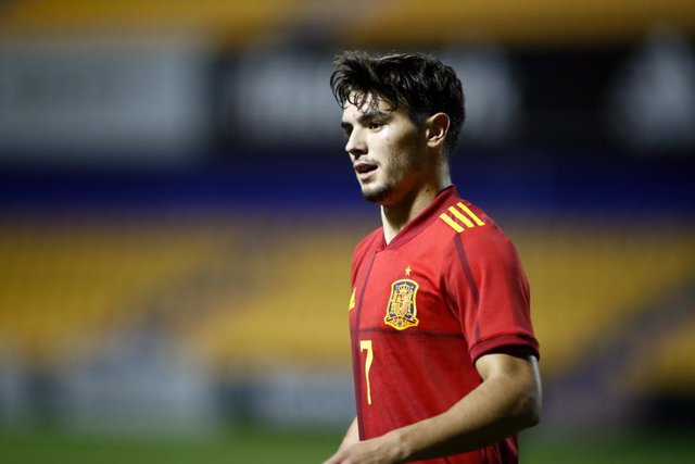 Archivo - Brahim Diaz of Spain Sub21 looks on during the UEFA Under 21 Championship football match played between Spain and Kazakhstan at Santo Domingo stadium on october 13, 2020 in Alcorcon, Madrid, Spain.