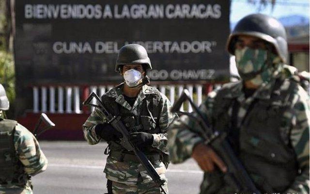 Archivo - Militares de Venezuela en Caracas