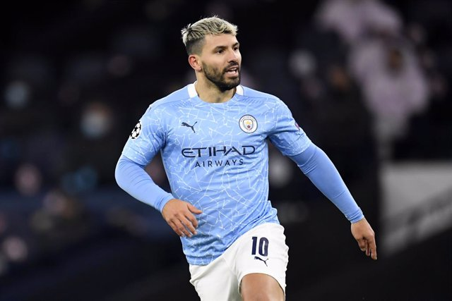 Archivo - 09 December 2020, England, Manchester: Manchester City's Sergio Aguero in action during the UEFA Champions League group C soccer match between Manchester City and Olympique de Marseille at the Etihad Stadium. Photo: Peter Powell/PA Wire/dpa