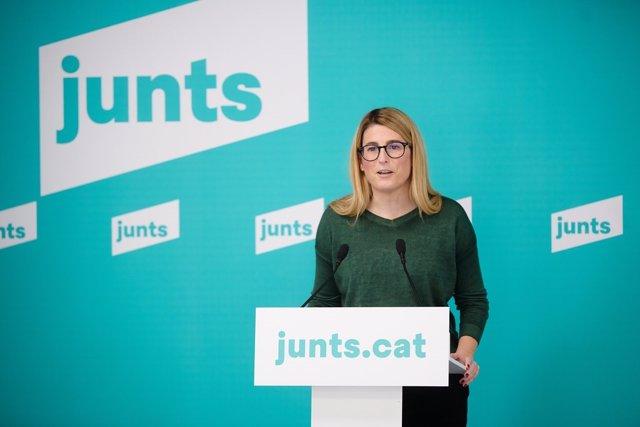 La vicepresidenta de Junts, Elsa Artadi. (Arxiu)
