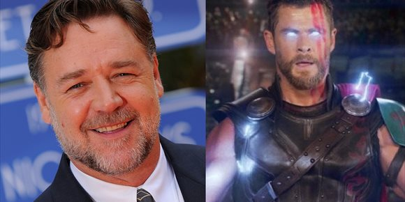 1. Russell Crowe ficha por Thor: Love And Thunder de Marvel