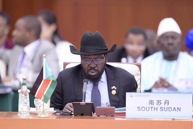 Archivo - El presidente de Sudán del Sur, Salva Kiir