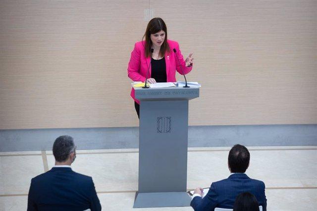 La portaveu de Junts al Parlament, Gemma Geis.