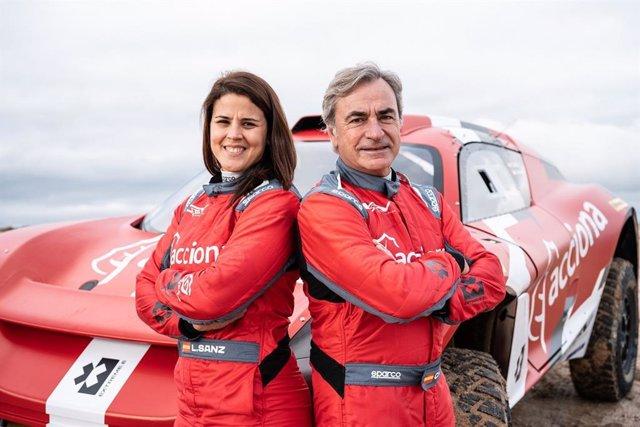 Archivo - Laia Sanz y Carlos Sainz compartirán coche en el campeonato Extreme E de vehículos eléctricos