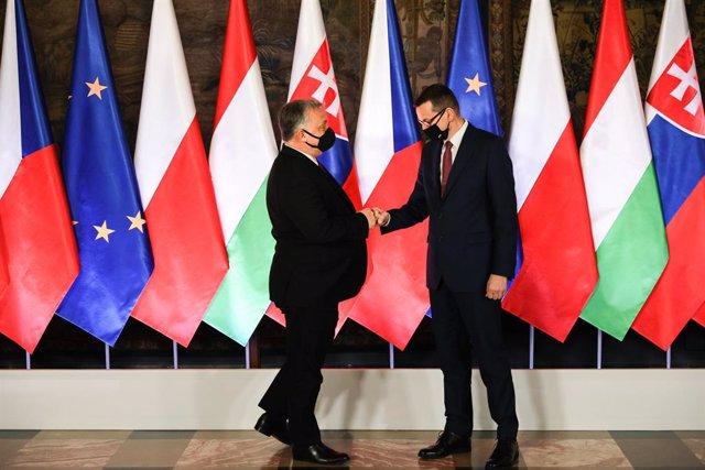 Archivo - Viktor Orban y Mateusz Morawiecki