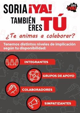Cartel de la campaña de Soria ¡Ya!