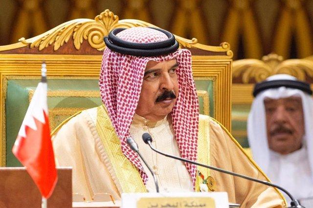 Archivo - El rey de Bahréin, Hamad bin Isa al Jalifa