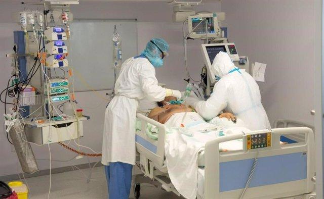 Paciente ingresado por coronavirus