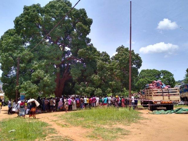 Desplazados por la violencia yihadista en Cabo Delgado, en el norte de Mozambique