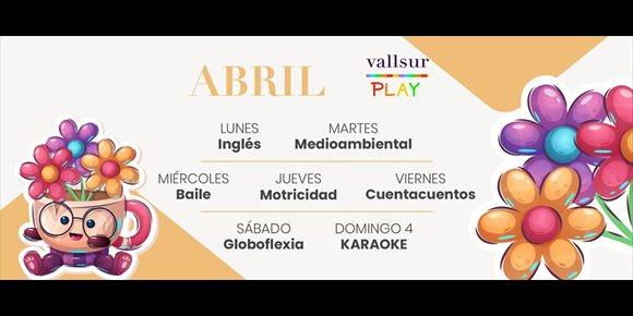 6. COMUNICADO: Cuentacuentos, globoflexia y talleres de primavera, en la ludoteca de Vallsur durante el mes de abril