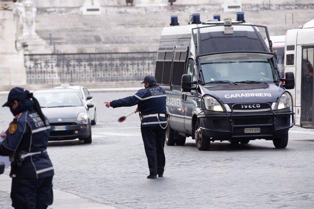 Control policial en Roma