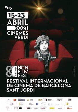 Archivo - Cartell del Festival Internacional de Cinema de Barcelona-Sant Jordi del 2021