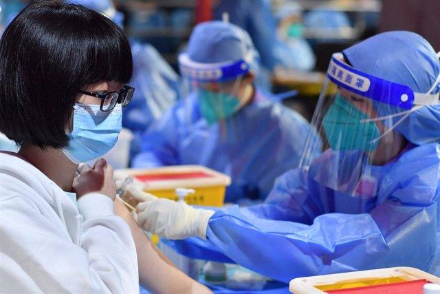 Vacunación contra el coronavirus en Pekín