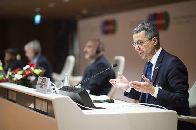 Archivo - El ministro de Exteriores de Suiza, Ignazio Cassis