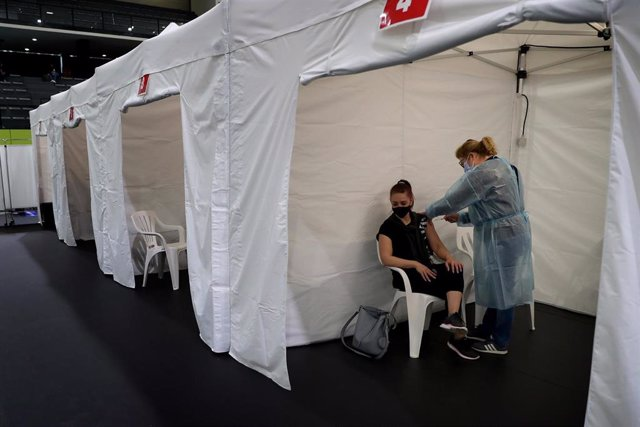 Campaña de vacunación contra el coronavirus en Lisboa