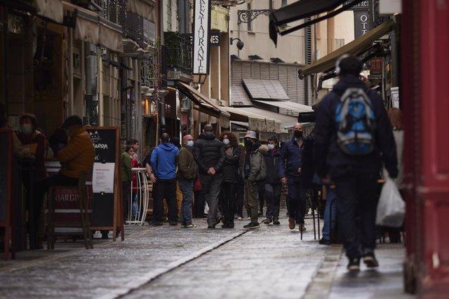 Archivo - Arxiu - Un carrer de Pamplona.