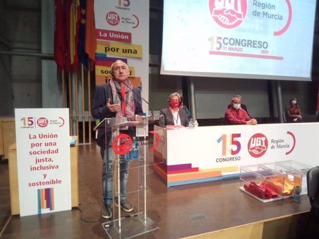 Intervención de José María Álvarez en el 15 Congreso de UGT Región de Murcia