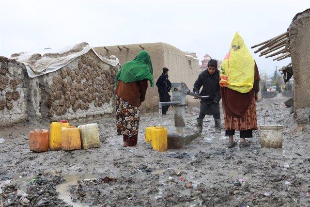 Archivo - Desplazados en Kabul