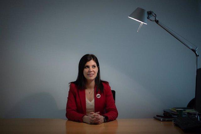 La secretaria general adjunta y portavoz de ERC, Marta Vilalta, en una entrevista de Europa Press.