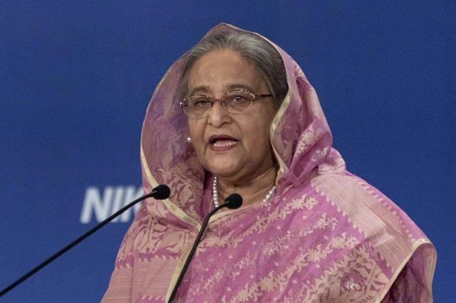 Archivo - La primera ministra de Bangladesh, Sheij Hasina