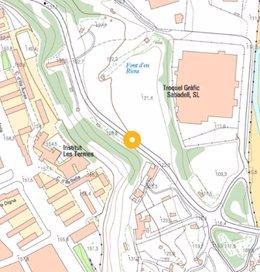 Mapa de la ubicació de la nova rotonda entre Sabadell i Barberà (Barcelona).