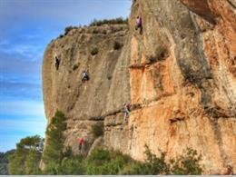 Zona d'escalada de Margalef (Tarragona)