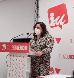 Archivo - La diputada del Grupo Parlamentario Mixto-IU, Henar Moreno, en comparecencia de prensa