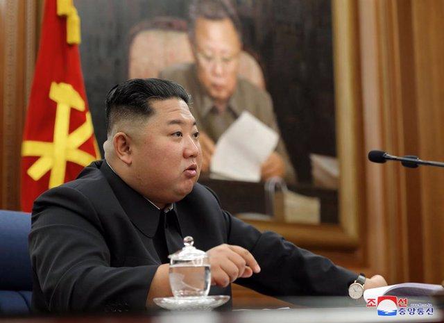 Archivo - El líder de Corea del Norte, Kim Jong Un, en Pyongyang