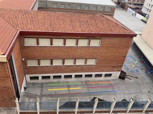 Patio de un centro escolar de Valladolid.