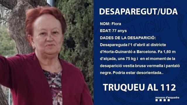 Els Mossos cerquen una dona de 77 anys desparecida a Barcelona