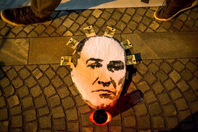 Protesta contra el Gobierno de Janez Jansa en Liubliana