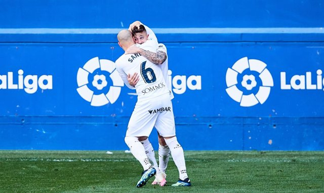 Archivo - Sandro Ramirez of SD Huesca celebrating his goal during the Spanish league, La Liga Santander, football match played between SD Eibar SAD and SD Huesca at Ipurua stadium on February 27, 2021 in Eibar, Spain.