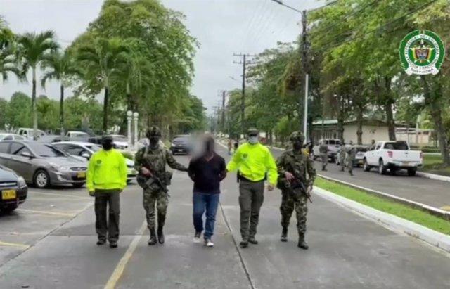 Archivo - Arresto de alias 'Merengue' cabecilla financiero de la subestructura criminal 'Clan del Golfo' en municipios de Chocó.